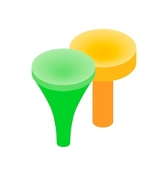 Golf tees isometric 3d icon vector image