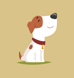 jack russell puppy character side view cute funny vector image