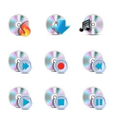 media symbols vector image vector image