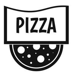 pizza badge or signboard icon simple style vector image vector image