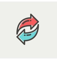 Arrow thin line icon vector