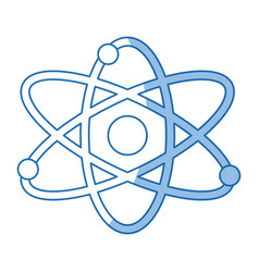 atom molecule particle structure biology shadow vector image vector image