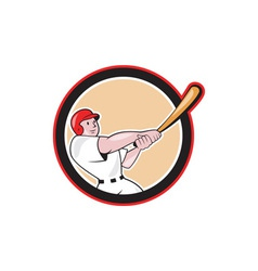Baseball Player Batting Circle Cartoon vector image vector image