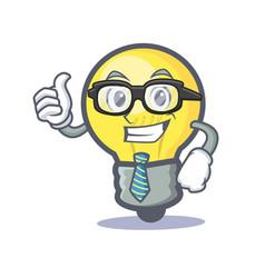 Businessman light bulb character cartoon vector