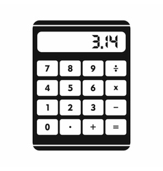Calculator icon in simple style vector image