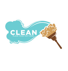 Cleaning services logotype with water and brush vector