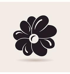 Flower logo sign emblem vector image