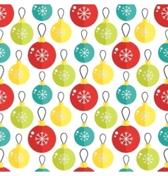Seamless pattern with christmass ball vector image
