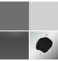 set metallic background vector image