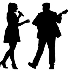 singer and guitarist vector image vector image