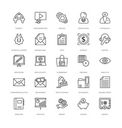 web design and development icons 16 vector image vector image