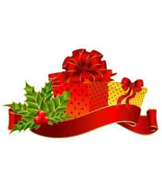 Christmas garnish vector image vector image