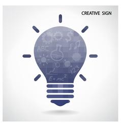 Creative light bulb and brain concept vector image