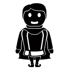 isolated prince cartoon character vector image