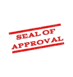Seal of approval watermark stamp vector