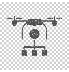 Drone Distribution Grainy Texture Icon vector image vector image