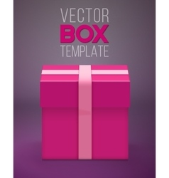 Gift Box Realistic Present Gift Box vector image