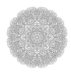 mandala zentangl flower doodle drawing round vector image vector image