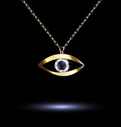 pendant with eye vector image vector image