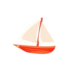Sailing Toy Boat With White Sails vector image vector image