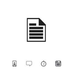 set of 5 editable bureau icons includes symbols vector image