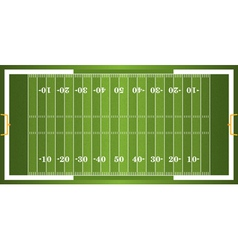 Textured Grass American Football Field vector image