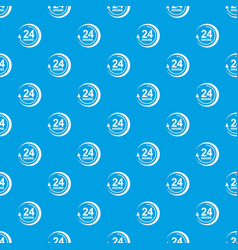 24 hours support pattern seamless blue vector image