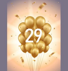 29th year anniversary background vector image