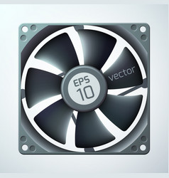3d computer cooler template vector image