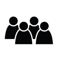 4 people icon group persons simplified human vector