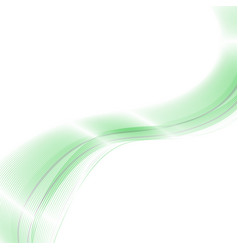 abstract background green waved lines for vector image