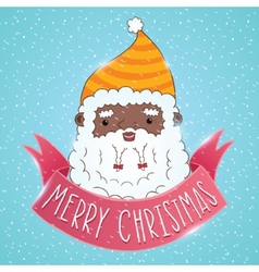 African american Santa Claus with ribbon vector image