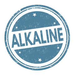 alkaline sign or stamp vector image