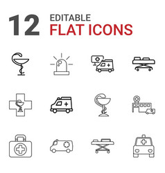 Ambulance icons vector