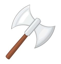 Battle axe icon cartoon style vector