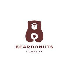 bear donuts logo icon vector image