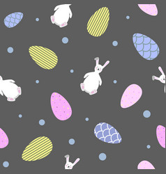 beautiful easter seamless pattern vector image