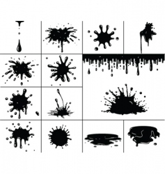 Black splashes vector