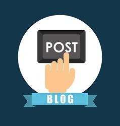 blog icon vector image