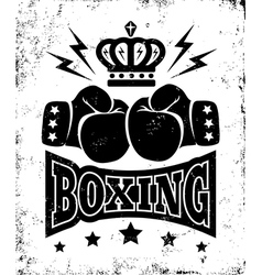 boxing new logo black vector image
