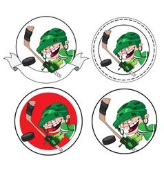boy hockey banner vector image