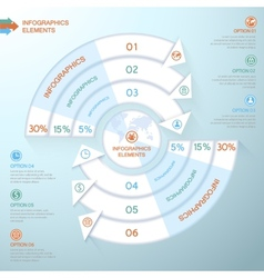 Business Infographics circle with arrows for vector image vector image