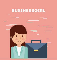 Businesswoman briefcase vector