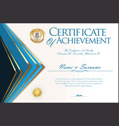 Certificate or diploma design template 2 vector