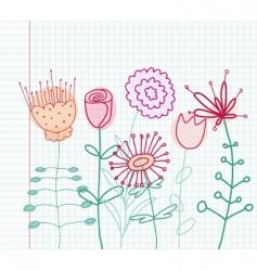 Childlike flowers vector