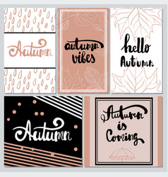 collection of autumn typography for flyer vector image