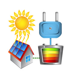 converting solar energy into electricity vector image