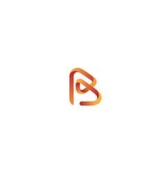 Creative red r letter gradient alphabet logo vector