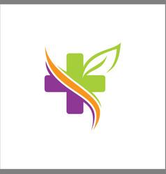 cross organic colored logo vector image