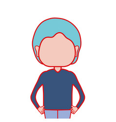 Cute man with hairstyle design vector